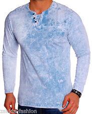 Mens long sleeve sweater long sleeve wash loose design t-shirt new