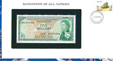 Banknotes of All Nations East Caribbean $5 1965 UNC P14h Birthday D11 271944