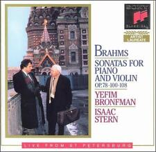 ISAAC STERN - Brahms: Sonatas For Piano And Violin, Op. 78, 100, 108 - CD - NEW