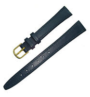 Hadley Roma LS703 13mm Blue Stitched Leather Watch Band