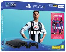 Sony Playstation PS4 500GB Console with FIFA 19 and 2 Controllers Bundle