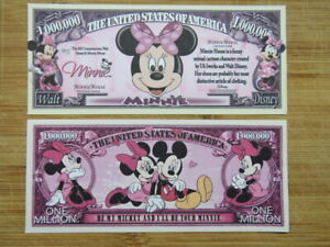 Walt Disney MINNIE MOUSE Animated Cartoon Series $1,000,000 One Million Dollars