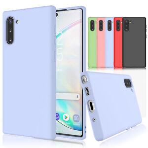 For Samsung Galaxy S9/S10e/S10/Note 10/10+ Plus Liquid Silicone Case Soft Cover