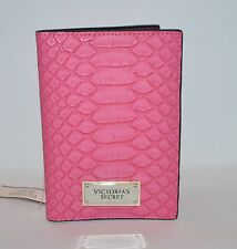 VICTORIA'S SECRET PINK SNAKE SKIN PASSPORT COVER CASE TRAVEL WALLET CREDIT CARD