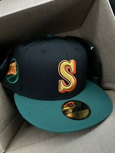 """MyFitteds Exclusive Seattle Mariners 7 5/8 """"Upper Deck"""" (not Hat Club) RARE"""