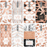 DYEFOR PERSONALISED MARBLE WITH INITIALS PHONE CASE COVER FOR NOKIA