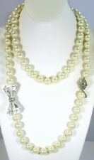 "HEIDI DAUS ""FULL OF POSSIBILITIES"" CONVERTIBLE NECKLACE & BRACELET SET-S/M-CREAM"