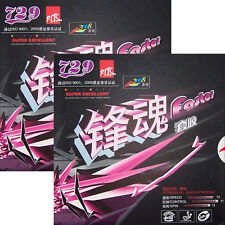2x Friendship RITC Pips-in Table Tennis Rubber/Sponge: 729 Faster 2008,New