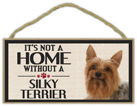 Gifts It/'s Not A Home Without A VIZSLADogs Decorations Wood Sign