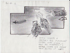 DRAGNET '87 ORIGINAL STORYBOARD ART DAN AYKROYD TOM HANKS 6 PAGES ELEPHANT TRUNK
