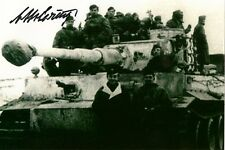 Otto Carius signed autograph WW II German Tank Ace 150 victories LOOK!