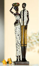 Gilde *Zaire Paar* 39 cm afrikanische Skulptur Figur Afrika Afrikenerin 20061A