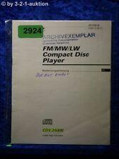 Sony Bedienungsanleitung CDX 2500R CD Player (#2924)
