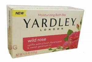 Yardley London Wild Rose Moisturizing Bath Bar 4.25 Ounces Soap