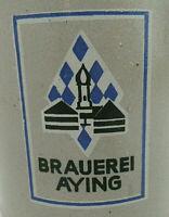 AYINGER BRAUEREI AYING BEER MUG STEIN CLAY STONEWARE BREWERY BAVARIA GERMANY .5L