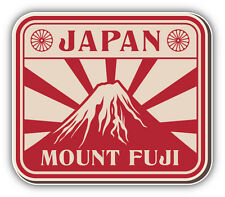 Mount Fuji Japan Vintage Label Car Bumper Sticker Decal 5'' x 4''