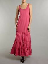 Ralph Lauren Denim & Supply coton dos nageur robe maxi échelonné rose fushia S