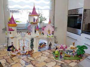 Traumschloss, Prinzessinnenschloss, Schloss, Kutsche, Brunnen Zubehör Playmobil
