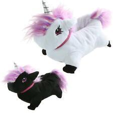 Tier Hausschuhe Einhorn Schuhe Unicorn Pantoffeln Flauschig Rutschfest PREMIUM