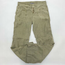 Level 99 Lounge Pants 29 Button Fly Bootcut Picle Linen Blend Green