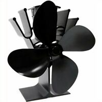 Heat Powered Stove Top Fan 4 Blade for Fireplace Wood Log Burner Eco Friendly