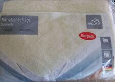 Matratzenauflage Schurwolle 140 x 200 Übergrösse Matratze Auflage Bezug Schoner