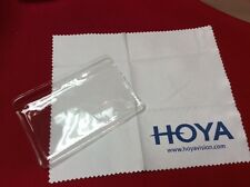 3 Qty Hoya Lens Microfiber Cleaning Cloth In Pouch for Specialty Eyeglass Lenses