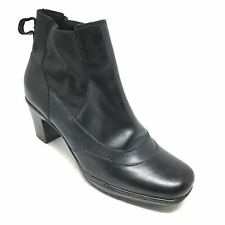 Women's Clarks Bendables Ankle Boots Booties Shoes Size 8M Black Leather M8