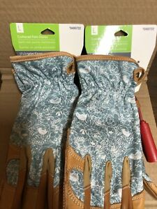Lot Of 2 Style Selections 495722 Womens Large Leather Garden Gloves New