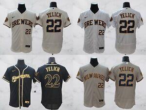 Milwaukee Brewers #22 Christian Yelich FlexBase Men's Stitched Jersey