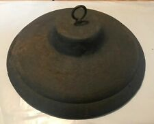 Vintage Cast Iron Dome Lid Whanger For Repurpose Reuse Craft Bird Feeder 11�D