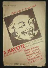A. Mayette - catalogue 1939 farces attrapes prestidigitation cotillon rire