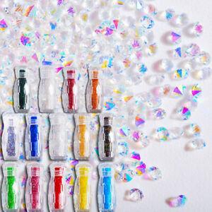 3000 Pcs Crystal Pixie 3D Nail Art Gems Micro Zircon 1.1mm Mini Rhinestones DIY