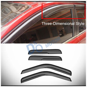 """Fit 99-07 Silverado/Sierra Classic Extended Cab 4pc """"3D"""" Style Vent Window Visor"""