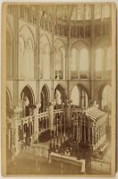 Reims Basilique Saint-Rémi Francia Foto PL53Cn4 Vintage Albumina c1880