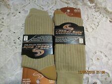 Copper Sole Socks Khaki  Cupron Anti Fungal New Men Large 6-12