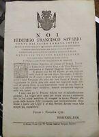 1799 59) FIRENZE BANDO CONTE HOHENZOLLERN LASCIA A PALFFY IL GOVERNO DI TOSCANA