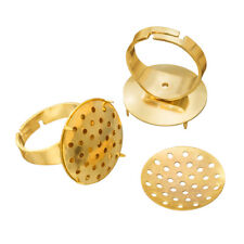 Adjustable 27mm Ring Bases Gold Plated 20mm Sieve Disc Pack of 2 (G96/9)