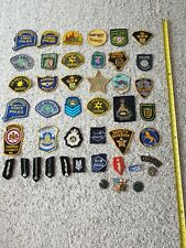 More details for large collection police patch badges (used/unused)