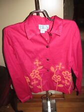 Women's BEA Classic Dark Pink Button Light Jacket Size M/P NWOT