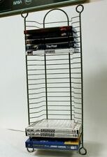 THREE (3) DVD Tower CD Holder Movie Video Game Storage Display Rack Metal Stand