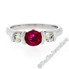 Anillos de joyería de platino de rubí