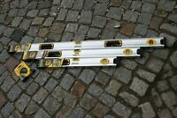 3er SET Stanley Magnetwasserwaage, Wasserwaage, 120/90 & 60 cm + 10 m Bandmass