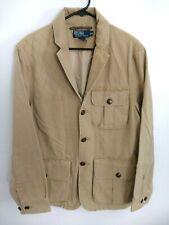Polo Ralph Lauren Mens Size Medium Tan Button Up Khaki Utility Safari Jacket