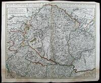 Hungary Transylvania Croatia Slovenia Romania c.1710 Valk Vischer antique map