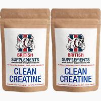 Clean Creatine Monohydrate Veg Capsules 1,186mg UK High Strength 2 Month Supply