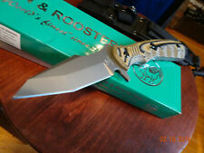 "10"" OVERALL HEN & ROOSTER  *DESERT RAPTOR* TACTICAL FIXED BLADE G10 HANDLE1095SS"