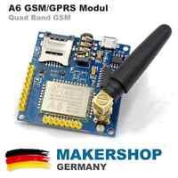A6 Quad Band GSM Shield SMS GPRS SIM900A Audio A6 Modul Arduino Raspberry SIM900