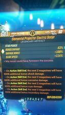 borderlands 3 (ps4) Modded Artifacts -x5 pack- level 60(S.J Mods)Elemental Pro