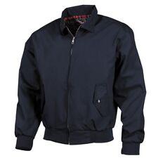 Jacke English Style blau Strickbündchen Karofutter Größe XXL